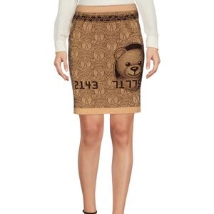 Moschino knit above the knee skirt